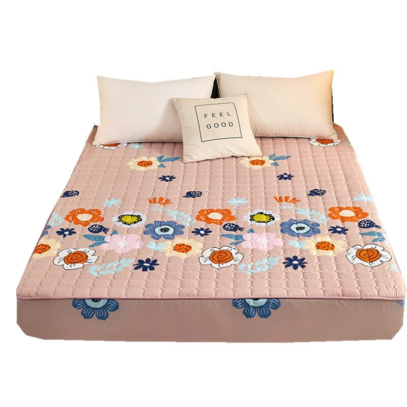 التجارة الخارجية غطى بالرمل مبطن غطاء سرير ثلاث قطع مبطن سميكة كاملة تحيط المفرش غطاء سرير قطعة واحدة