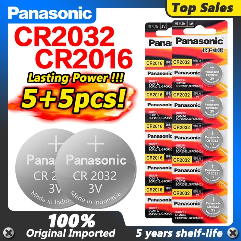 PANASONIC-baterías Cr2016 + 5 uds. Cr2032 CR 2032 2032 CR 2016, para...