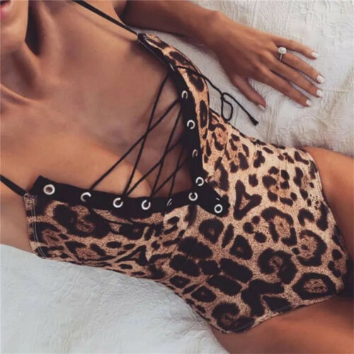 G-string Mulheres Sexy Lingerie Menina V Profundo Estampa de Leopardo Sleepwear Babydoll lingerie pornô Erótico cosplay traje Lingerie Sexy