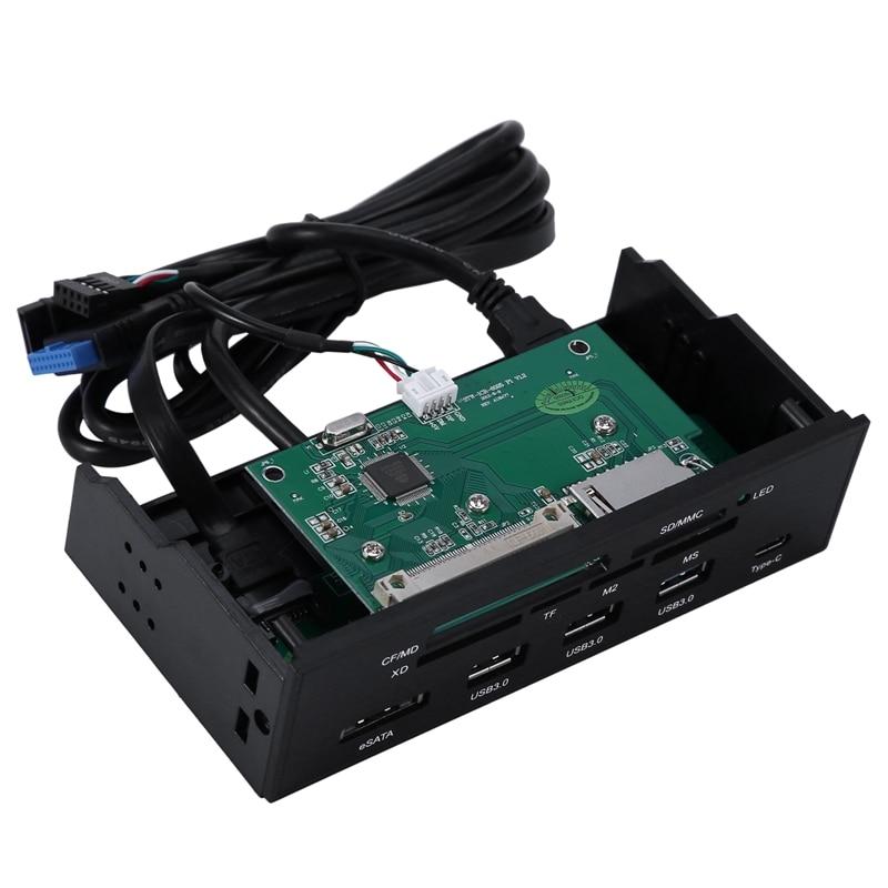 Interne Kartenleser Media Multi-Funktion Dashboard PC Front Panel Typ-C USB 3.1 USB 3.0 Unterstützung CF