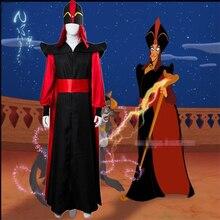 Homme Halloween maquillage Aladdin lampe Jafar déguisement adulte jeu de rôle assistant Jafar robe costumes