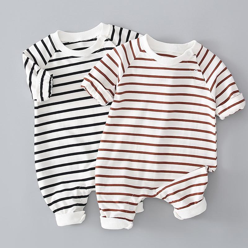 Детская одежда детская одежда комбинезоны весенняя одежда детская полосатая детская одежда комбинезон для мальчиков