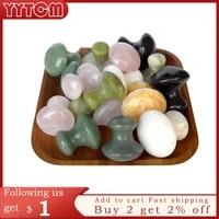 rose quartz mushroom foot massage stone crystal jade facial body thin anti wrinkle relaxation beauty health care tool