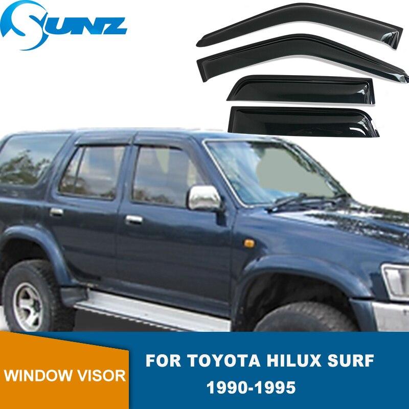 SUNZ-عاكسات نافذة جانبية لتويوتا هيلوكس سيرف ، واقيات نافذة سوداء لتويوتا هيلوكس سيرف 1990 1991 1992 1993 1994 1995