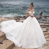 off the shoulder sweetheart lace vintage wedding dresses 2021 luxury appliques beaded royal train ball gown bride dress