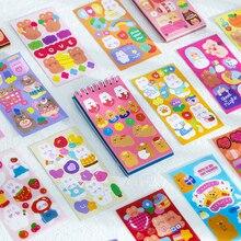 50 fogli/pacco simpatico cartone animato animali bobina adesivo libro creativo conto mano decorazione Collage adesivi materiale fai da te