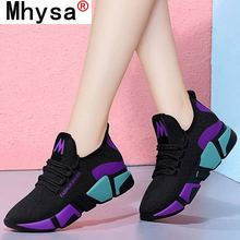 Spring Women's Casual Shoes Breathable Mesh Shoes Thick-soled Sneakers Women New Fashion Mesh Sneake