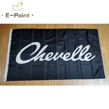 USA Chevelle Car Flag Black Background 60*90cm (2x3ft) 90*150cm (3x5ft) Size Christmas Decorations f