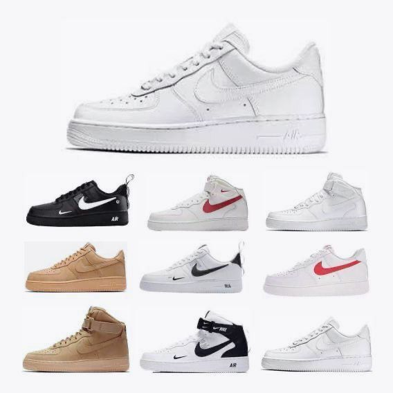 Original Nike Air Force 1 Low low-top versatile casual sports shoes Women's size 36-44 white red