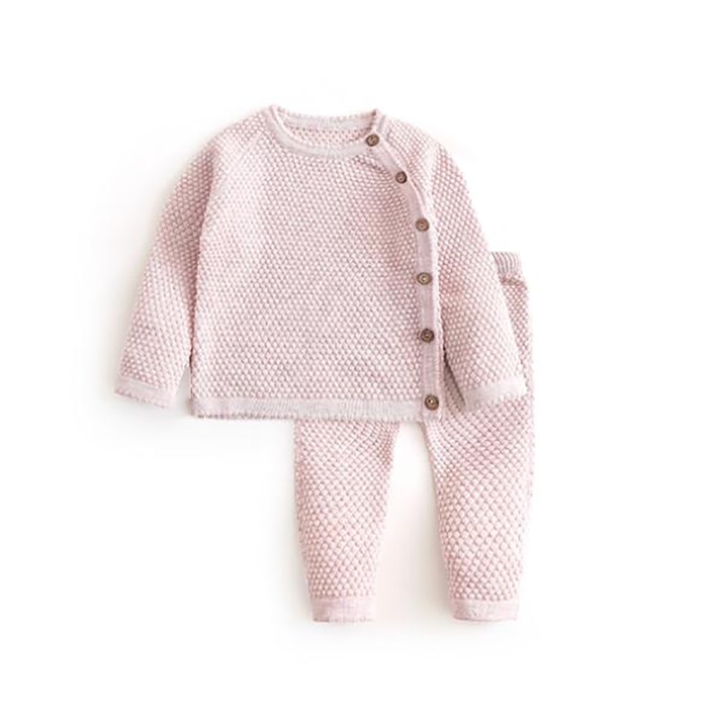 Baby Pajamas Autumn Winter Baby Girl Clothing Long Sleeve Tops + Pants Outfits Solid Newborn Warm Clothes Casual Baby Boy Sets children s suit baby boy clothes set cotton long sleeve sets for newborn baby boys outfits baby girl clothing kids suits pajamas