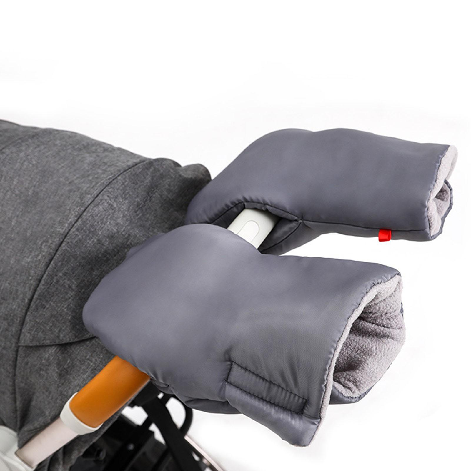 Winter Warm Newborn Car Windproof Practical Convenient Multifunctional Plush Protective Cover Stroller Handle Gloves