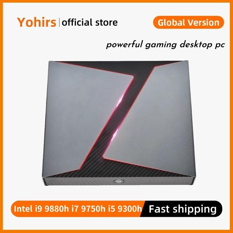 GTX1650 4GB Mini Game Pc Intel Core i9 8950HK i7 9750H i5 9300H DDR4 NVME DP HD Type-c Windows10 4K HTPC Gaming Computer AC WiFi
