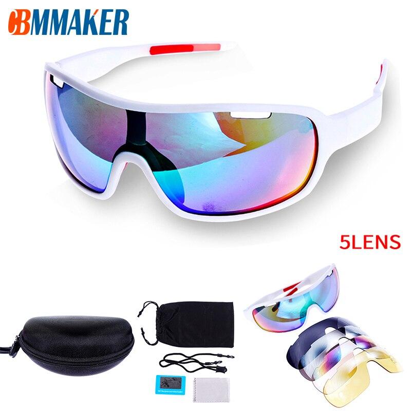 Gafas de sol deportivas polarizadas 5 lentes para bicicleta Gafas de Ciclismo UV Gafas de Ciclismo lentes Gafas de sol Ciclismo