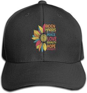 Biden Harris 2020 Peace Love Equality Hope Baseball Caps Breathable Hip-Pop Caps for Adult Black