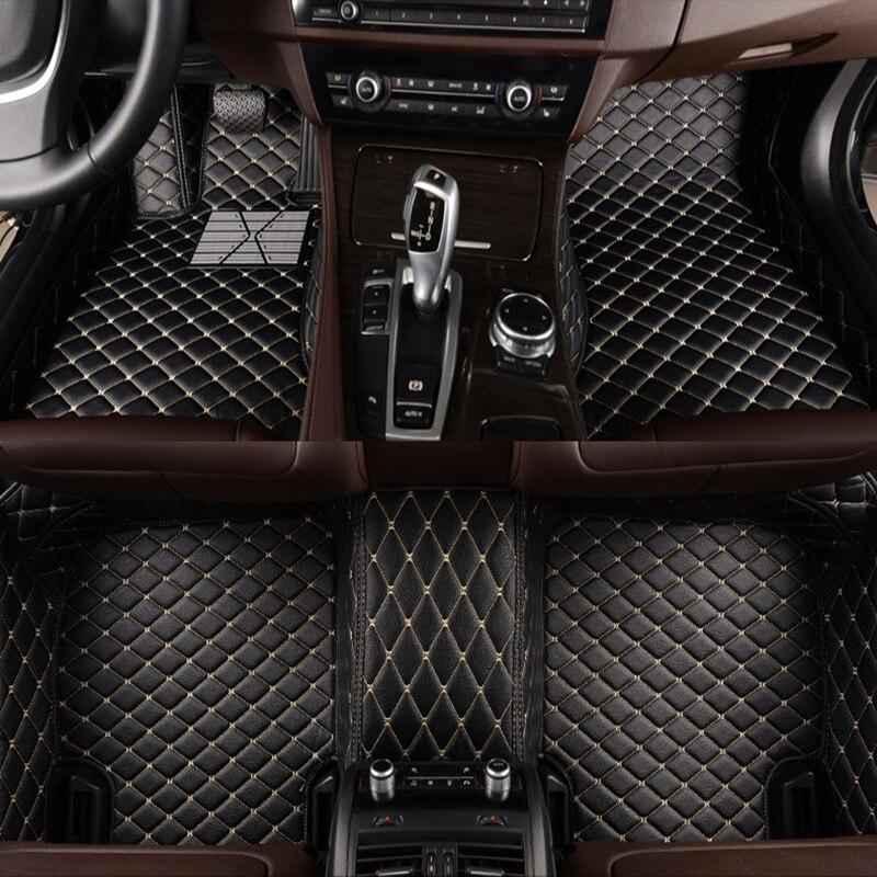 kalaisike Custom car floor mats for Cadillac all models SRX CTS Escalade ATS CT6 XT5 CT6 ATSL XTS SLS car accessories styling