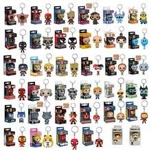 Funko Pop Marvel capitaine amérique fer homme docteur étrange porte-clés figurine Naruto Deadpool porte-clés enfant jouets boîte originale