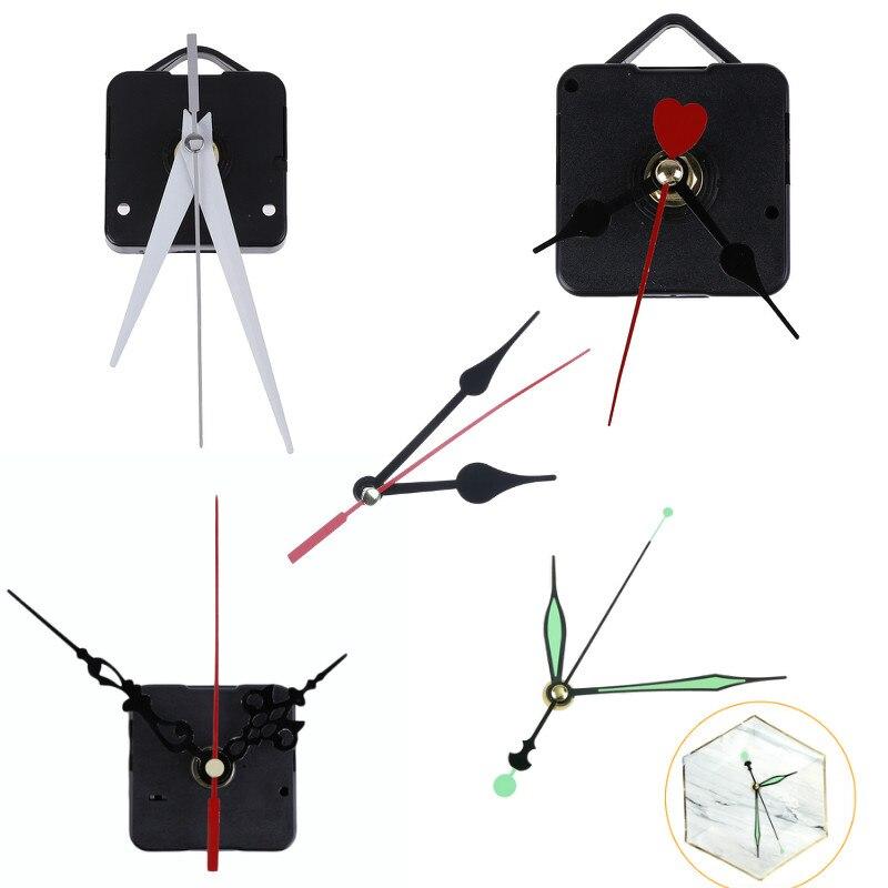 DIY Clock Mechanism Parts Classic Hanging Black Quartz Watch Wall Movement