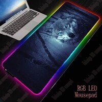 xgz wolf animal gaming mouse pad gamer computer mousepad rgb backlit mause pad large mousepad xxl for desk keyboard led mice mat