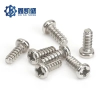 100pcs environment friendly carbon steel nickel plated silver cross round head self tapping screws m2 6 series stainlesssteel304