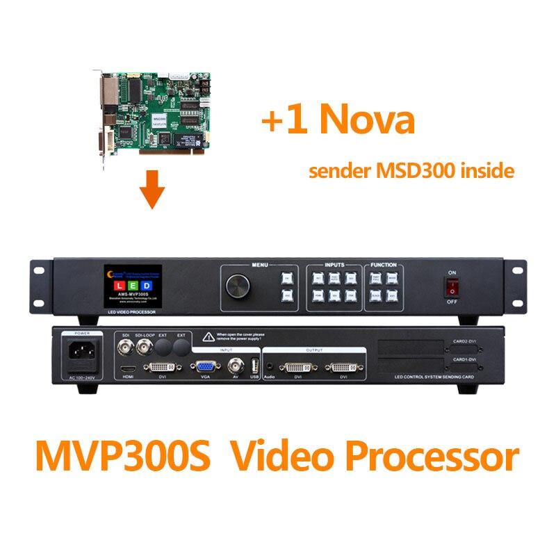 متعددة الوظائف الصمام معالج فيديو AMS MVP300S مع 1 قطعة نوفا msd300 تحكم الفيديو للدعاية في الهواء الطلق الصمام عرض الشاشة