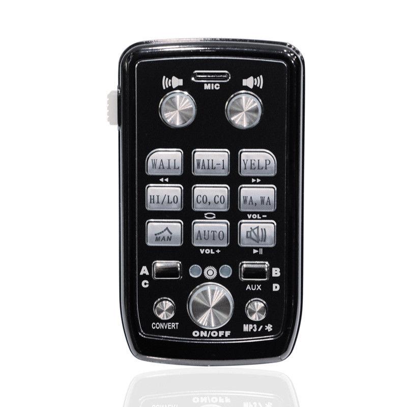 Купить с кэшбэком 200W/400W Car Loud Sound Speaker,12V Megaphone Electronic Speaker PA Siren Horn Alarm Bluetooth System Police Fire Kit