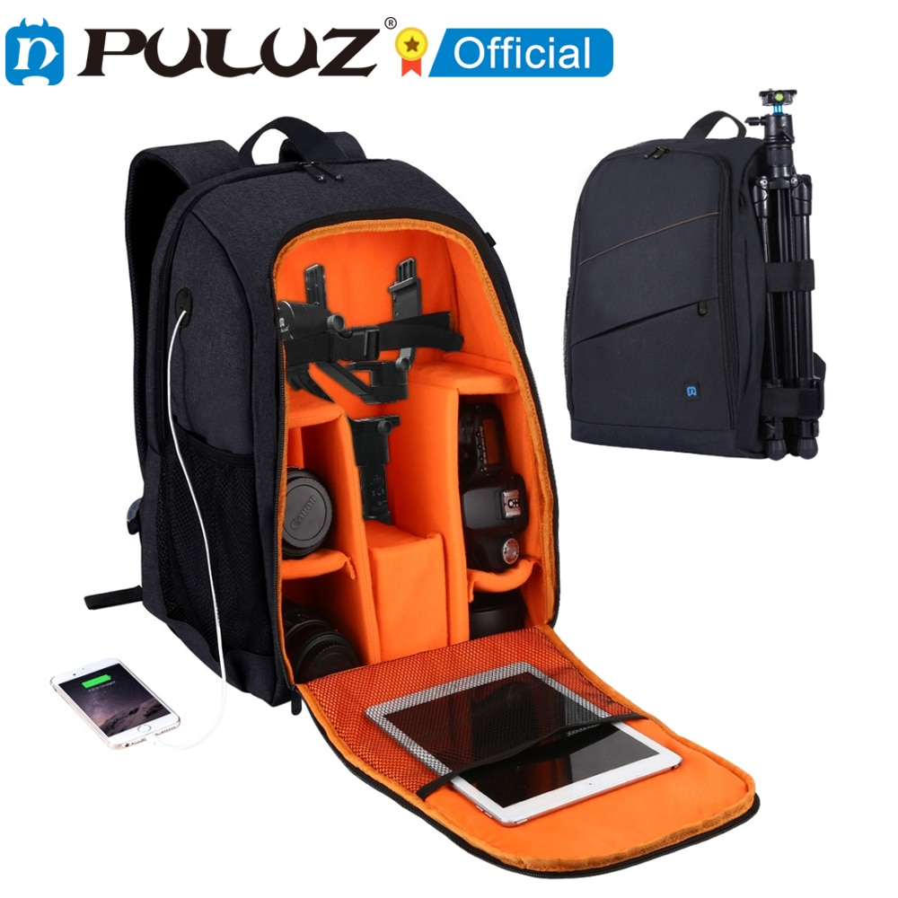 PULUZ Outdoor Portable Waterproof Backpack Handheld PTZ Stabilizer Camera Bag with Rain Cover for DJI Ronin-SC/ Ronin-S Bag