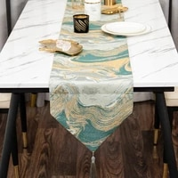 table runners colorful stripes with tassels high precision jacquard fabric wedding tablecloth for outdoor home decor