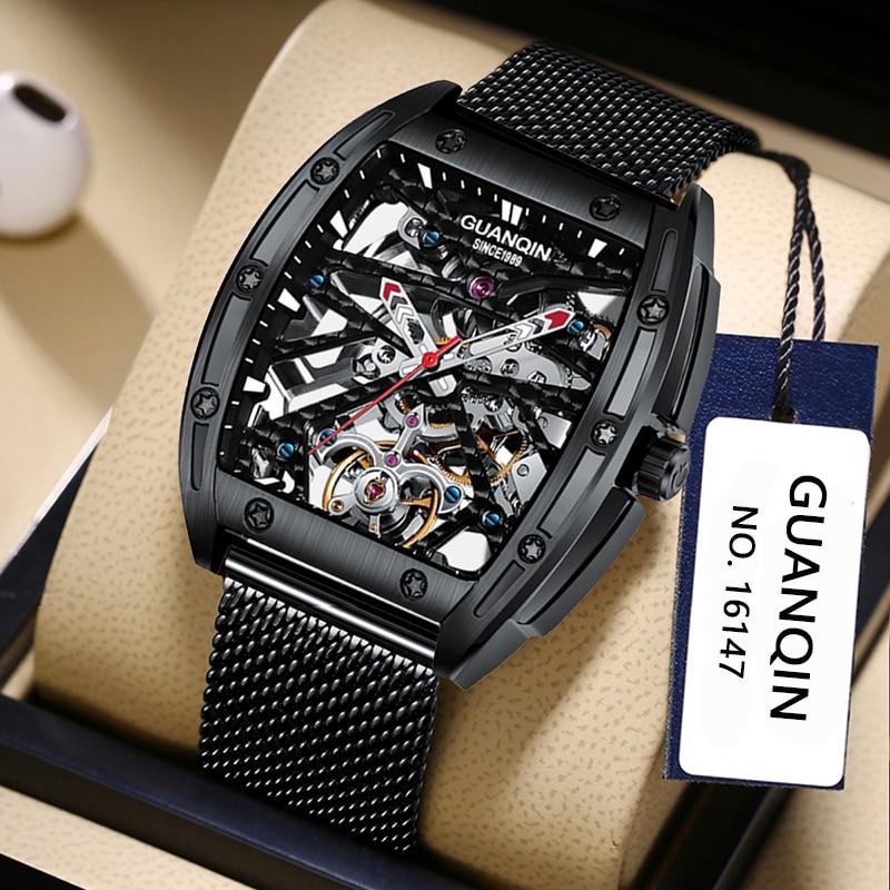 Mecânico à Prova Montre Homme Relógios Masculinos Safira Movimento Automático Dwiágua Wirstveres Luxo Quadrado Esporte Heren Horloge