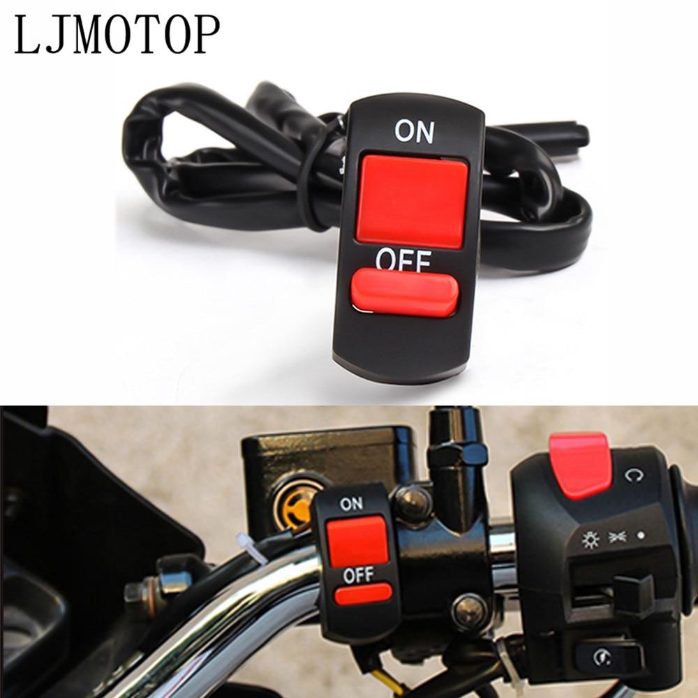 Interruptor para manillar de motocicleta Universal, Botón de Apagado y apagado para Yamaha XT250 TRICKER WR 450F 250R 250X 450 DT230 DT125