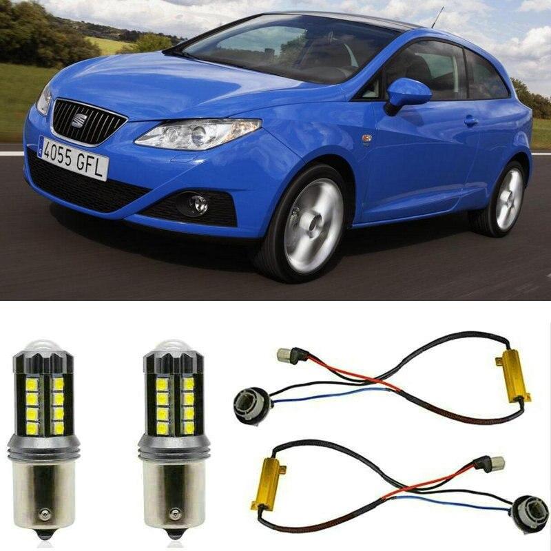 Faróis de nevoeiro para SEAT Ibiza SPORTCOUPÉ 4 6J1 6P5 Parar lâmpada Reversa Back up lâmpada Traseira Frente Vire Sinal de erro livre 2pc