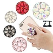 3D Diamant Telefon Halter Universal Finger Telefon Griff Halter Handy Ständer Halter Tablet Telefon Ring Unterstützung Telefon Halterung