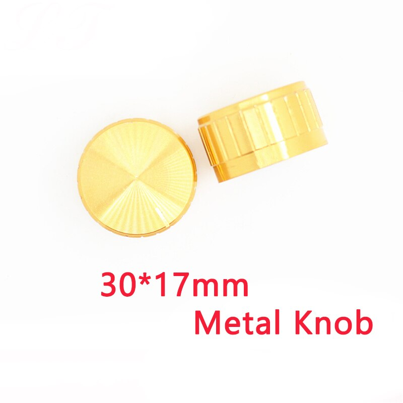 30x17mm WH148 potentiometer knob Knurled Shaft 6mm, Aluminum Metal gold Knobs switch cap for EC11 Encoder audio button potentiometer encoder knob high quality aluminum alloy knobs 15x16 5mm half shaft 6mm d type switch cap for 360 degrees module