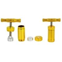 new hornet aluminum pollen presser compressor press metal herb grinder tobacco spice crusher smoking accessories