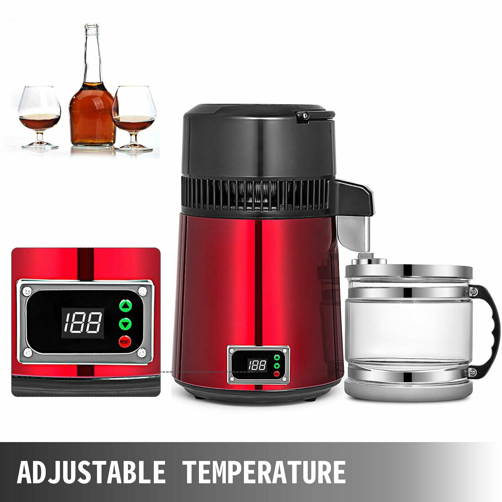 جهاز تقطير المياه بأفضل سعر فعلي 420 يورو جهاز تقطير المياه الكحول 4L 750 وات جهاز تقطير المياه الكهربائي للأسنان/الطبي/المعمل