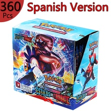 360Pcs Pokemon Cards Toys Spanish Trading Card Game Sword Shield Collection Box Card Espada Escudo P
