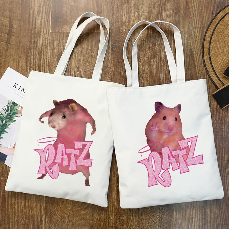Сумка-тоут женская с рисунком мыши и рисунком манги, парусиновая сумочка на плечо, повседневный элегантный саквояж для покупок printio сумка с абстрактным рисунком