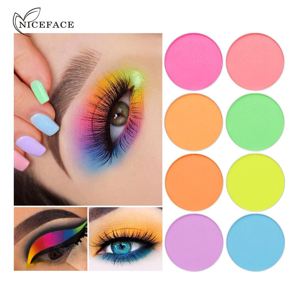 Paleta de sombra de ojos en polvo NICEFACE, maquillaje de ojos fácil de usar, sombra de ojos púrpura, maquillaje, cosméticos de sombras de larga duración