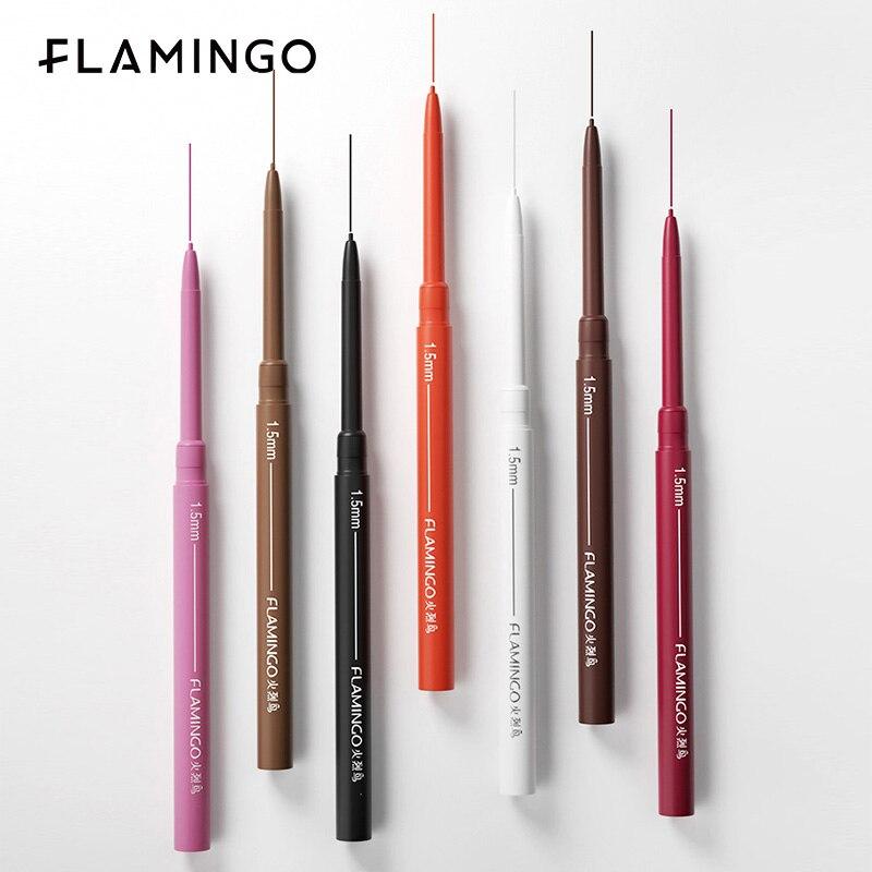 FLAMINGO Cosmetics Eyeliner Pen Gel Makeup Waterproof And Sweatproof For Beginner Multicolor Eyeliner Long Lasting Make Up