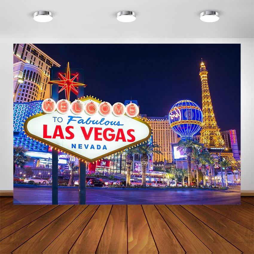 Ночной фон в Лас-Вегасе, винтажный фон для Декорации для фотосъемки, декорации, реквизит для студии
