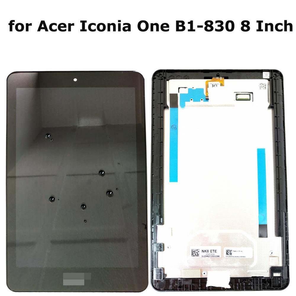 Shyuedra para Acer Iconia One B1-830 8 pulgadas 100% Original AAA + LCD pantalla táctil digitalizador