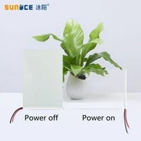 SUNICE Electronic PDLC Smart Film10cmX8cm Sample PDLC Switchable Smart Film Electric Smart Glass Film for Home office Privacy
