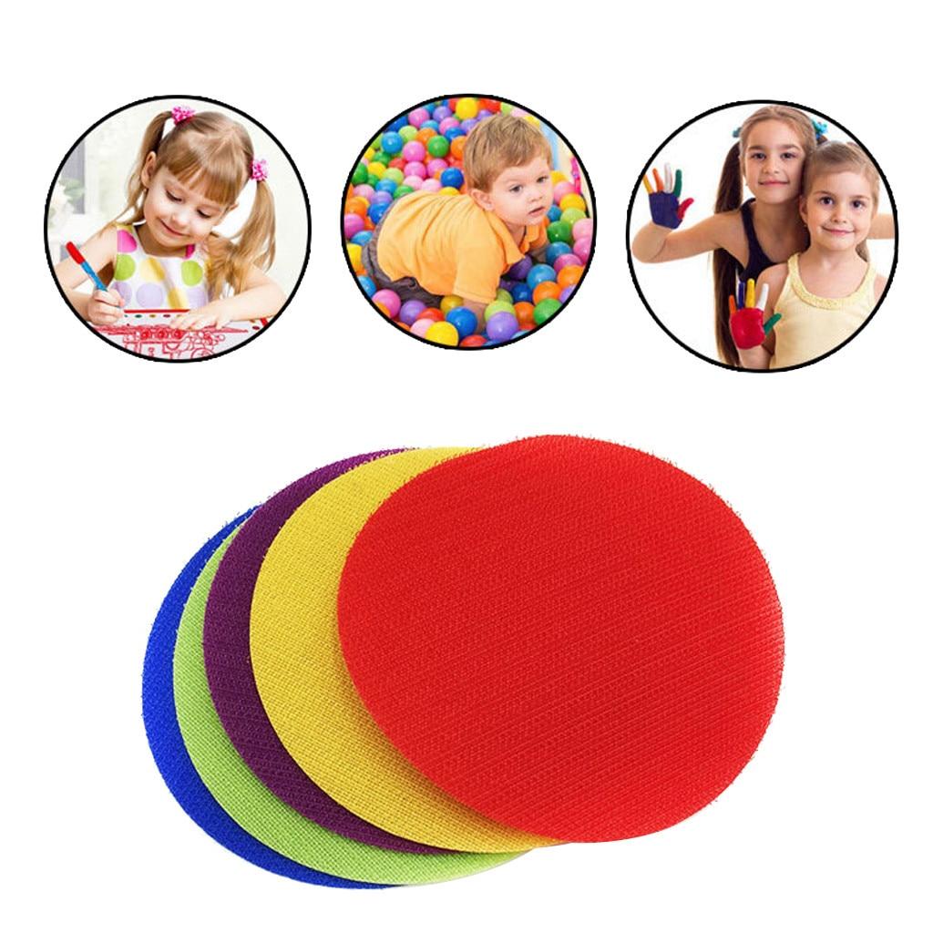 30 Uds. En el salón de clases, la magia marca sus puntos de alfombra de estar sentado para informar, marcador de paquete de pegatinas redondas para la decoración de la habitación del bebé A23