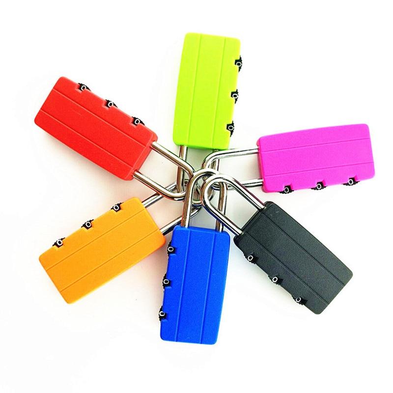 Cartoon New Combination Lock Padlock Multicolor Metal Travel  Luggage Mini Cartoon Padlock 3 Digits