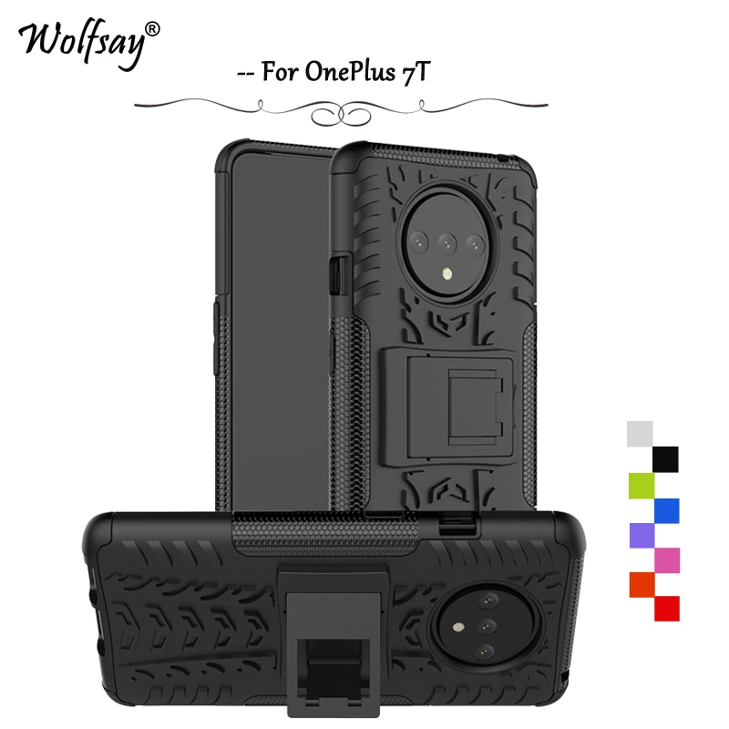 For OnePlus 7T Case Shockproof Armor Rubber Silicone Hard Back PC Phone Case For OnePlus 7T Protecti