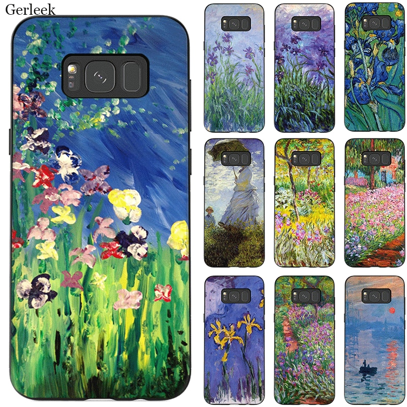 Desxz America Dream League Tpu funda para Samsung Galaxy A5 A6 A7 A8 A9 A10 A30 A40 A50 A70 pintura al óleo clásica de Claudio Monet