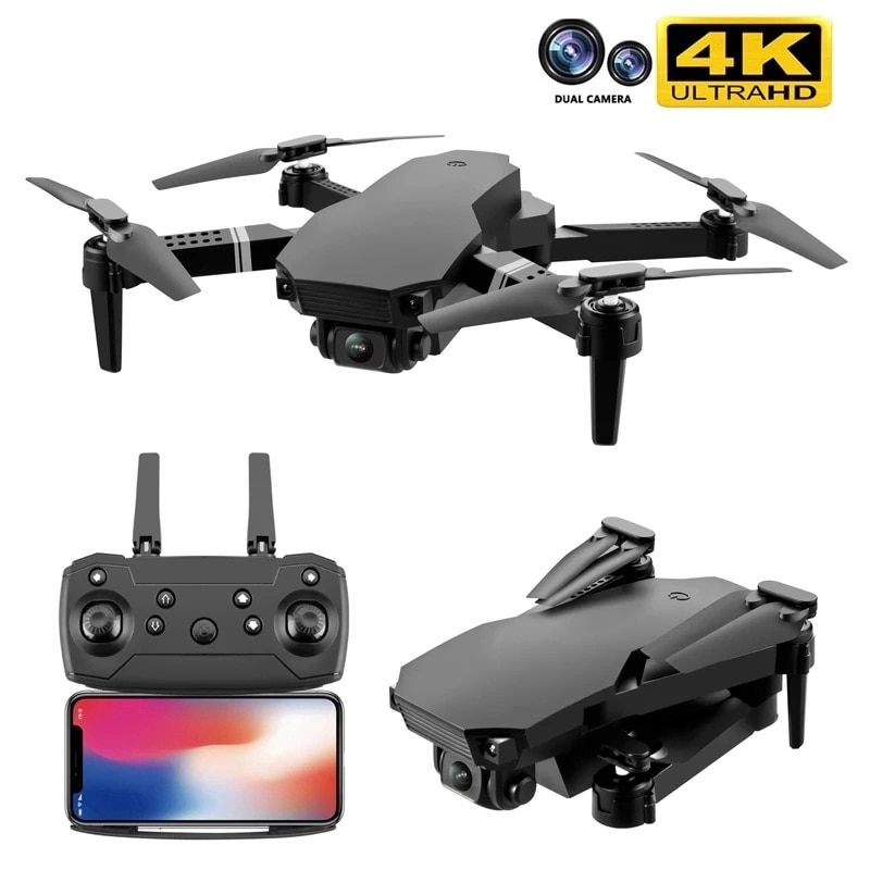 New 2021 S70 drone 4K HD dual camera foldable height keeping drone WiFi FPV 1080p real-time transmission RC Quadcopter toy