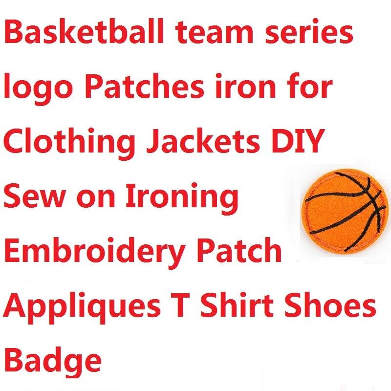 Нашивки с логотипом баскетбольной команды, утюжок для одежды, курток, «сделай сам», для глажки, вышивки, Аппликации, значок на футболку, обув...