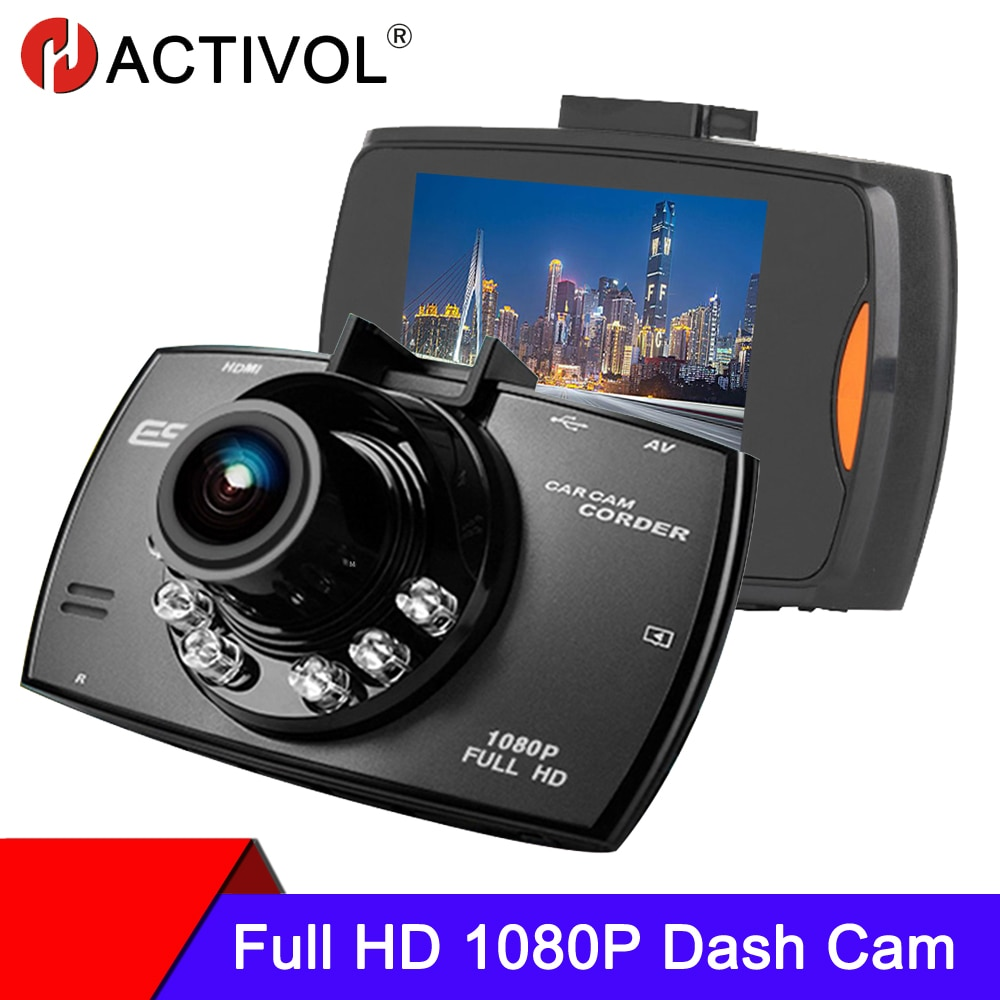 Car DVR Dash Cam 1080P 120 Degree Dashcam Driving Recorder Cycle Recording Night Vision Wide Angle Video car camera recorder