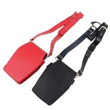 Rood Zwart Haar Stylist Split Lederen Holster Salon Kapper Taille Tool Pouch Kapper Groomer Schaar Organizer H20