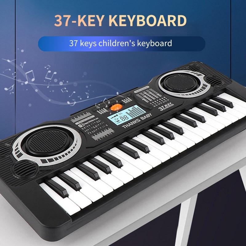 37 Keys Digital Music Electronic Keyboard Key Board Electric Piano Child Electronic Piano Musical Instrument Music Learning Toy
